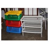 Plastic Organiser & Shelves