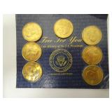 Coin History of US Presidents Minted in Brass