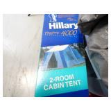 Hillary 2-Room Cabin Tent W/Stakes and Campers