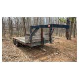 Shop built goose neck TA trailer with 6.5