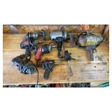 Quantity of power tools, mostly drills