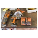Ridgid cordless tool set. 1 side of charger