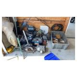 Lot of scrap or parts including batteries and