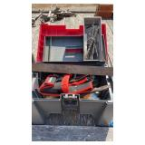 Lot of miscellaneous tools and bench/storage box