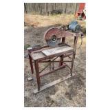 Old stone saw