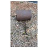 Hand roller, propane burner, old steel wheel