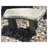 Cement bench & cement pedestal