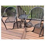metal patio chairs with round table