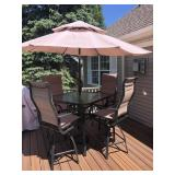 Bistro 6 piece patio set to include;