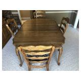 Solid oak dining table with