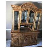 Solid oak china cabinet with