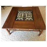 Oak mission style coffee table with