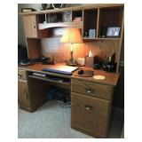 Office desk with 2 drawer file cabinet