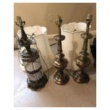 (3) table lamps