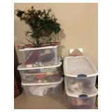 (5) totes of Christmas items