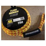 Lot  of ski tow rope, solar lights, Coleman