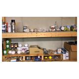 Lot with several asst. light bulbs & Spray paint