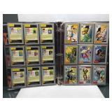 Dc comic cards in album