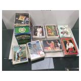 Mixed sports cards with vintage in cases