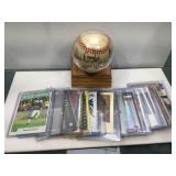 Mixed sports cards with auto ball
