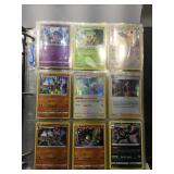 Album of Pokemon cards with holos 37 total pages
