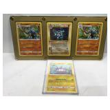 Pokemon holo cards in cases