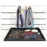 Costume jewelry. Tray not included.