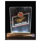 Miller Lighted beer sign, tested working, approx