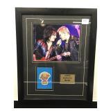 Billy Idol Backstage Pass framed to 20x16 Return