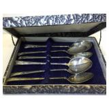 Asian 950 Fine Silver Spoon Set with orig. box -