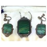 Vintage Sterling Silver Necklace and Earrings set