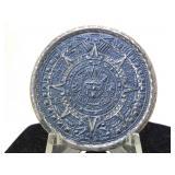 Sterling Silver Mexico Mayan Calendar Brooch