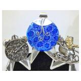Sterling Silver Brooches and Pendant - 28.7g TW