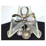 Sterling Silver Mexico Brooch with Bells
