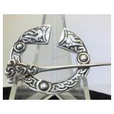 Sterling Silver Celtic Style Pendant - 13.9g