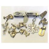 Sterling Silver Charms and Pendants - 25.9g TW