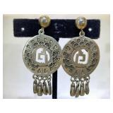 Sterling Silver Mexico Dangle Earrings