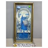 Wine Blue Num framed print w/glass front, approx