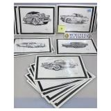 Assorted Adkins Car prints incl. 1956 Ford