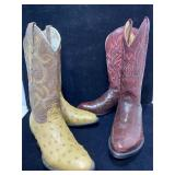 2 pr Cowboy Boots. Sedona west with tags size 6d.