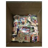 Box of unsorted sports cards