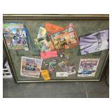Huge sports collection framed