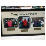 The masters tiger woods framed picture