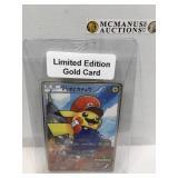 Mario Pikachu gold card