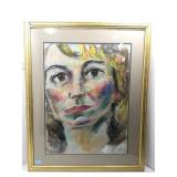 Original Pastel on paper by WJ Logan. Framed