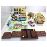 Simpsons Lego Set with Instructions. Partially