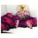 Pink/Purple Showgirl Costume.. Collar, Cuffs,