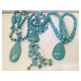 Turquoise necklaces lot of 3