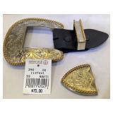Cowboy Silver plated Belt buckle