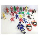 Power Rangers figures and more.